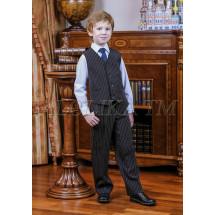 """Костюм для мальчиков черного цвета (жилет и брюки) """"Консул"""""""