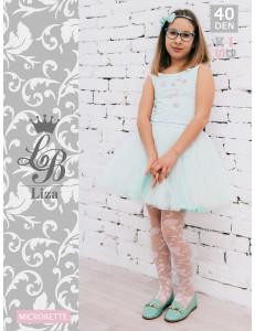 """Колготки нарядные белого цвета для девочек """"LIZA"""""""