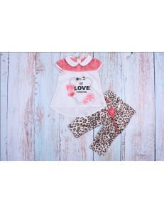 Комплект летний леопардовой расцветки bebus (бриджи и блуза)