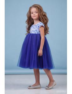 """Платье нарядное синего цвета """"Василиска"""""""